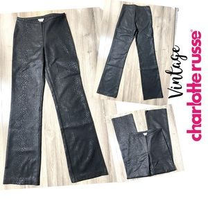 Vintage Charlotte Russe Snakeskin Textured Pants